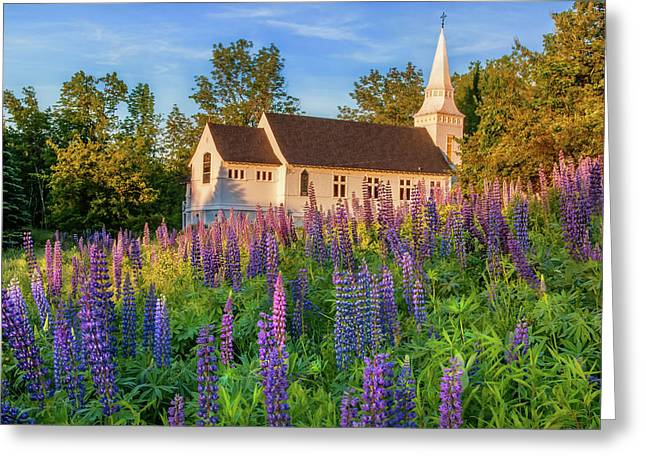 St Matthews Church - Sugar Hill New Hampshire  Greeting Card by Thomas Schoeller