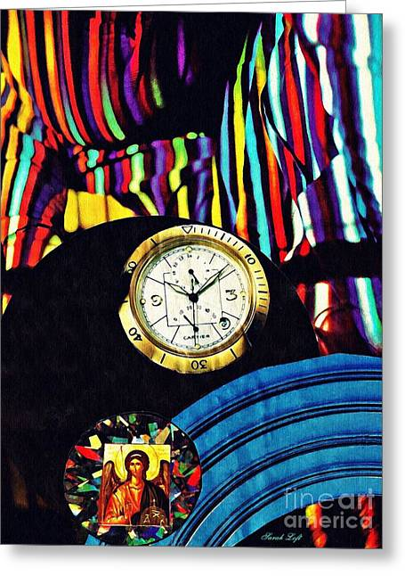 St Michael At The Gates Of Time Greeting Card