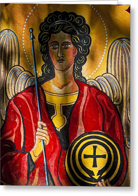 St. Michael  Greeting Card by Robert Ullmann