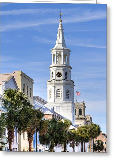 Old Churches Greeting Cards - St Michaels Church Charleston SC 3 Greeting Card by Dustin K Ryan