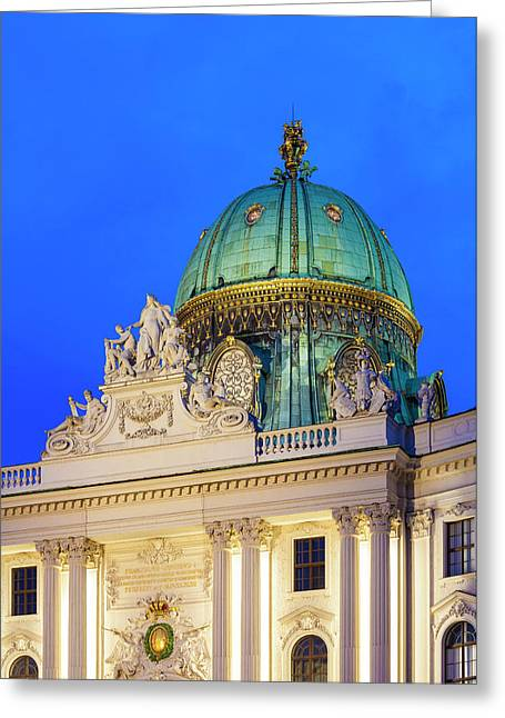 St. Michael's Wing Of Hofburg In Vienna Greeting Card