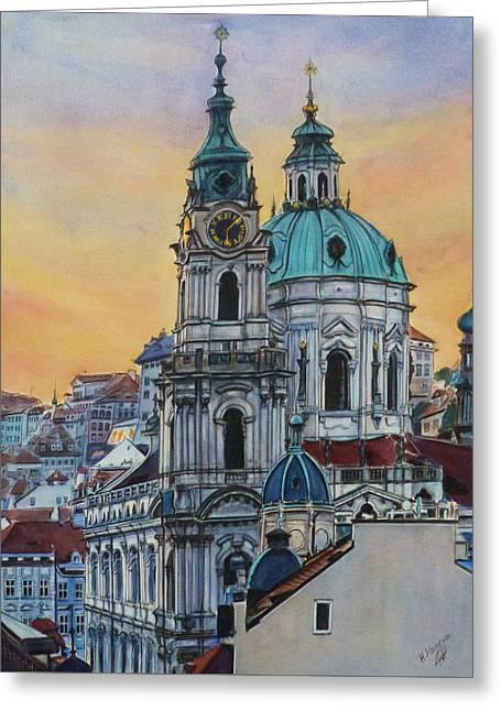 St. Nicholas Church Prague II Greeting Card