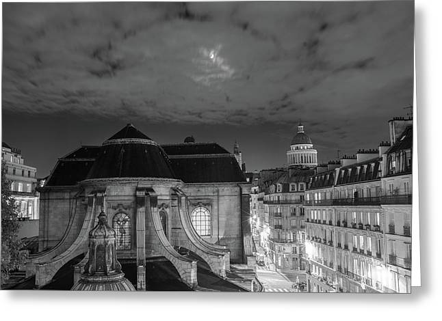 St Nicholas Du Chardonnet, Paris, At Night Greeting Card