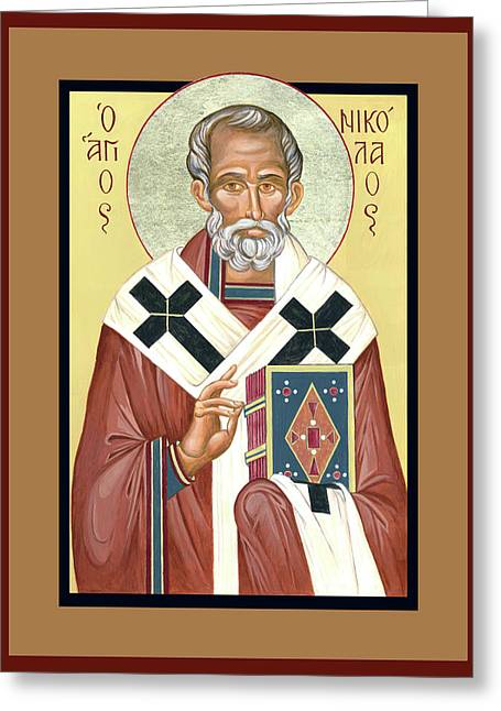 St. Nicholas Greeting Card by Lynne Beard