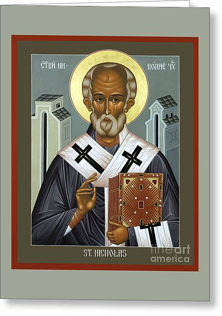 St. Nicholas Of Myra - Rlnic Greeting Card by Br Robert Lentz OFM