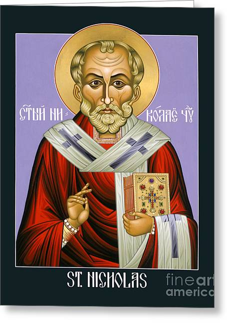 St. Nicholas, Wonderworker - Lwnww Greeting Card by Lewis Williams OFS