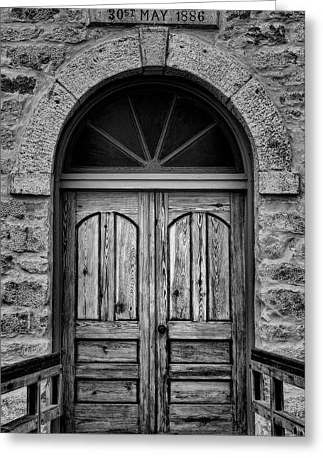St Olafs Church Door Greeting Card by Stephen Stookey