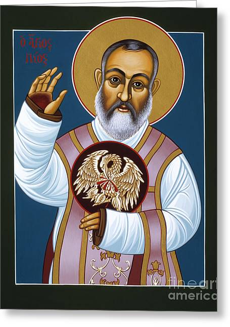 St Padre Pio Mother Pelican 047 Greeting Card