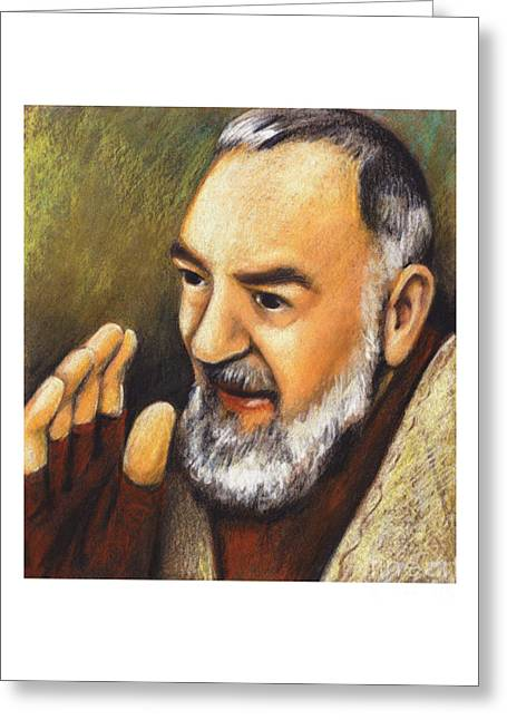 St. Padre Pio Of Pietrelcina - Jlpio Greeting Card
