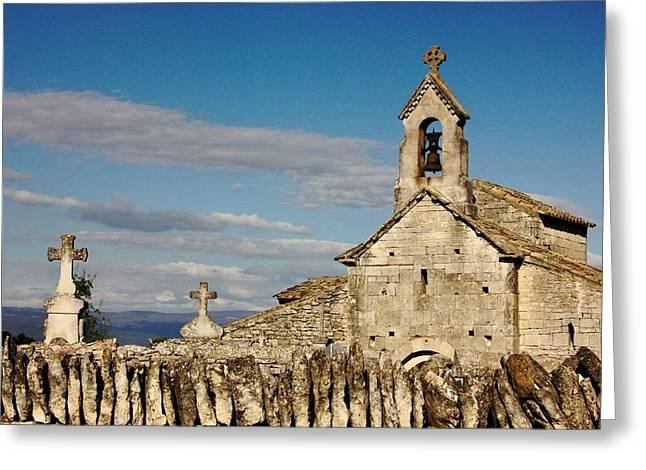 St. Pantaleon Church,  Luberon, France Greeting Card