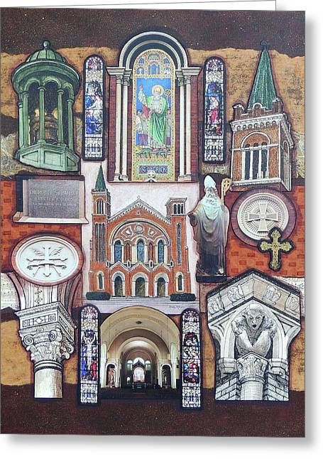 St. Patrick Cathedral Greeting Card by Candy Mayer