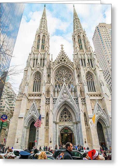 St. Patrick Cathedral In New York Greeting Card