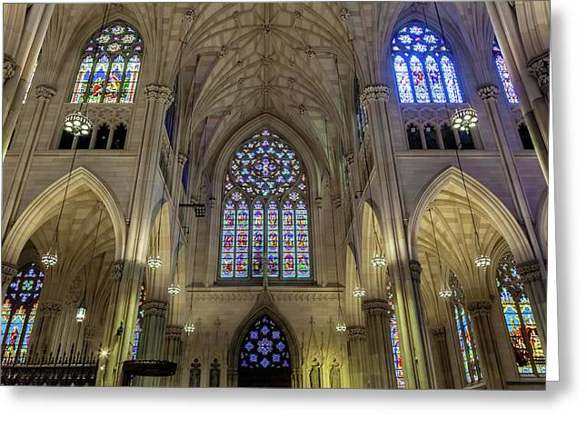 St. Patrick Cathedral Greeting Card by Jonathan Nguyen