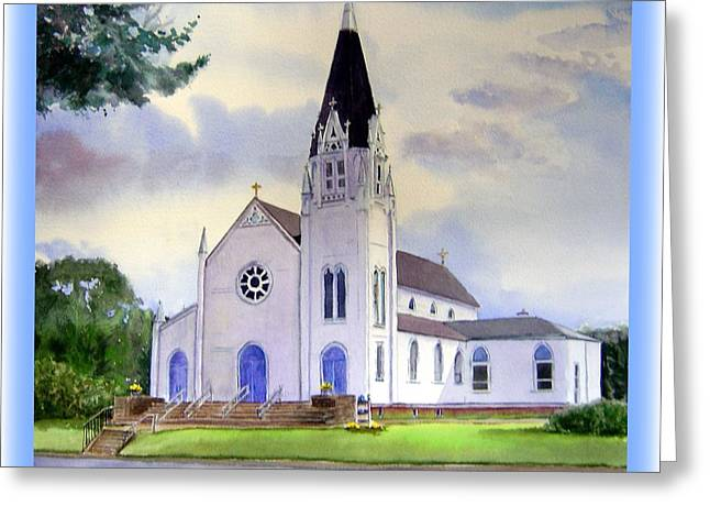 St. Patrick Church Greeting Card by Katherine  Berlin