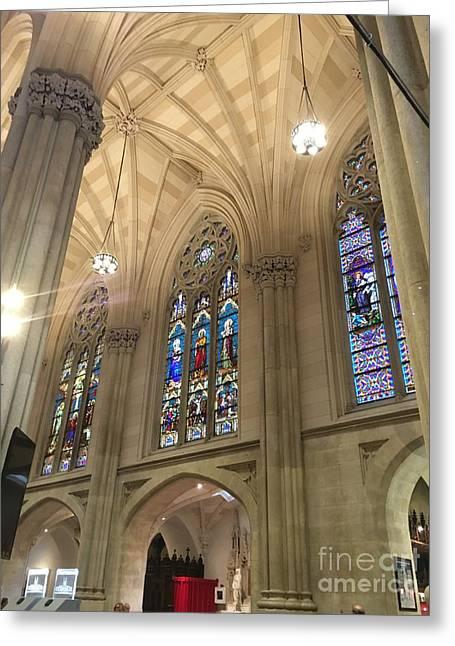St. Patricks Cathedral Interior Greeting Card