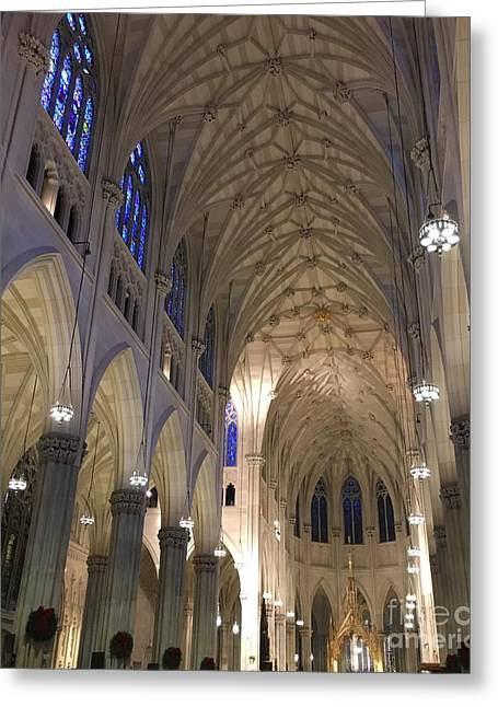 St. Patricks Cathedral Main Interior Greeting Card