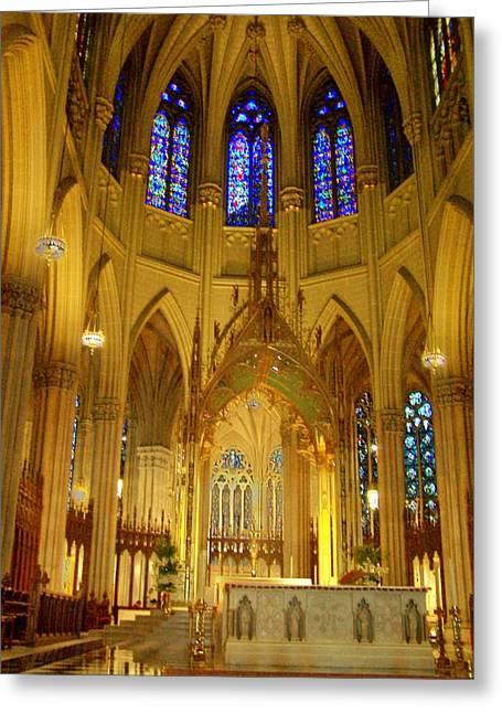 St Patricks Cathedral New York Greeting Card by Vijay Sharon Govender