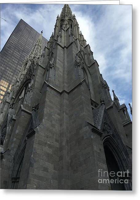 St. Patricks Cathedral Perspective Greeting Card