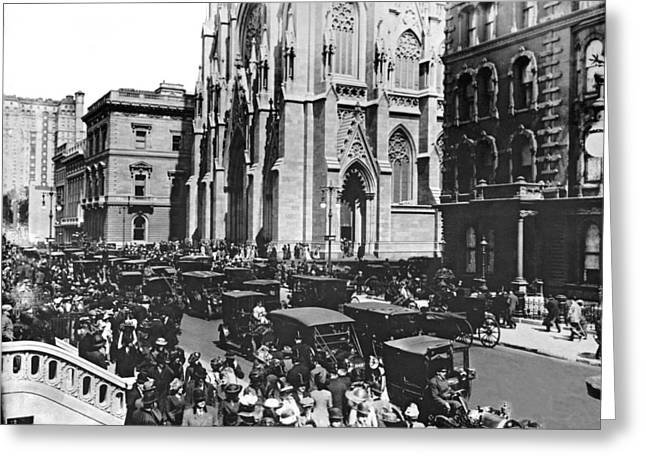 St. Patrick's Cathedral Greeting Card by Underwood & Underwood