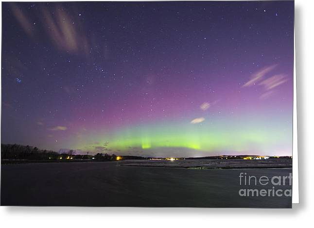 St. Patrick's Day Aurora 2015 Greeting Card by Patrick M Fennell