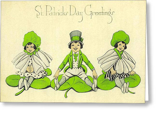 St Patricks Day Greetings Greeting Card by Bill Cannon
