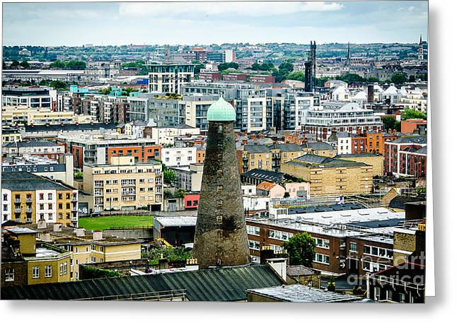 St Patricks Tower From Guinness Brewery In Dublin Greeting Card by RicardMN Photography