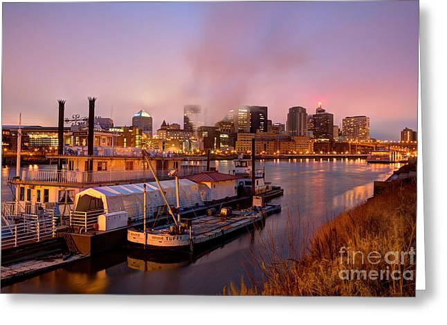 St Paul Minnesota Its A River Town Greeting Card