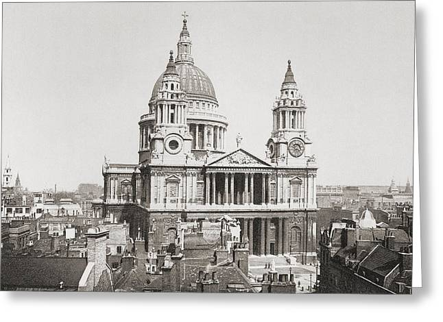 St. Paul S Cathedral, London, England Greeting Card