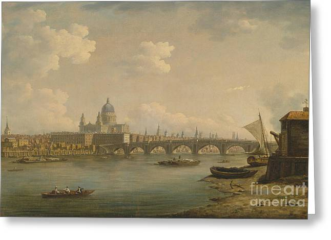 St Paul's And Blackfriars Bridge Greeting Card by Celestial Images