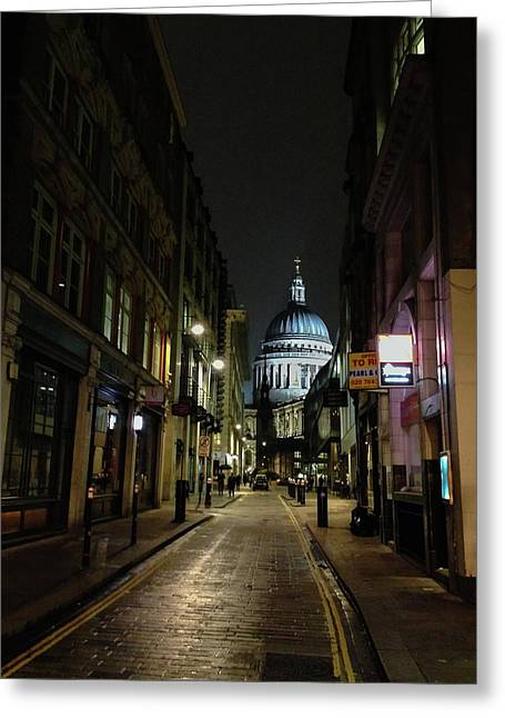 St. Pauls By Night Greeting Card