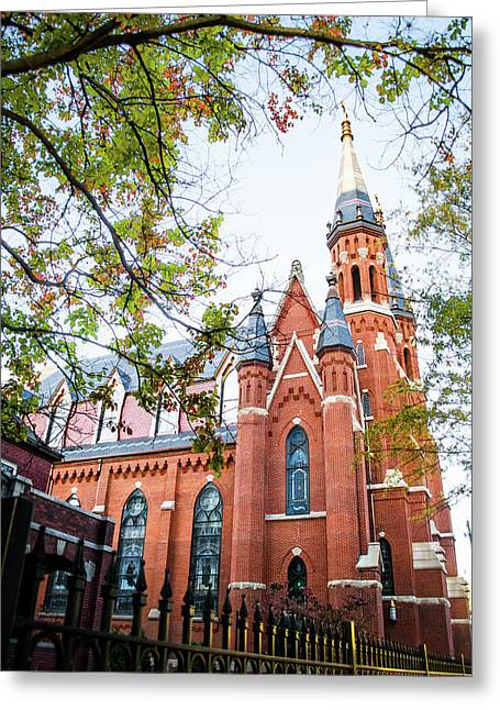 Greeting Card featuring the photograph St Paul's Cathedral In Downtown Birmingham by Shelby Young
