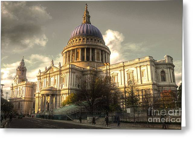 St Paul's Cathedral Greeting Card by Rob Hawkins