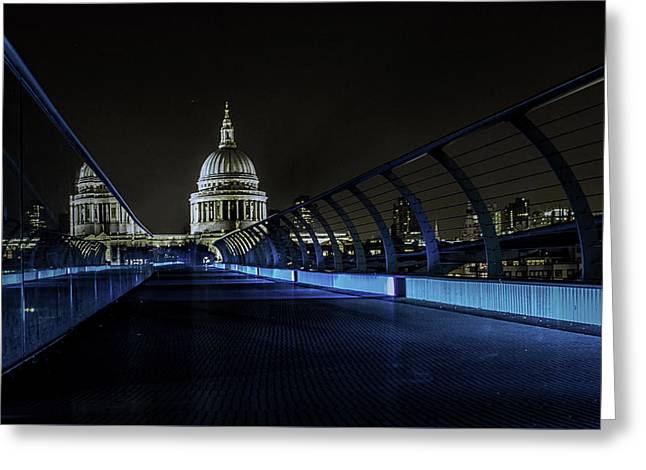 St Pauls Greeting Card by Martin Newman