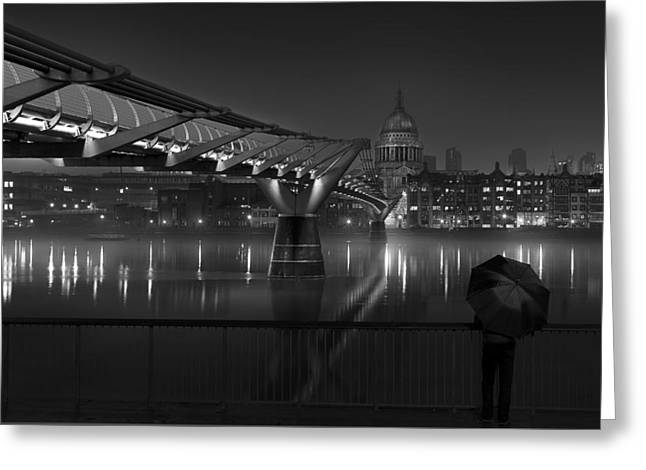 St Pauls Greeting Card by Peter Davidson