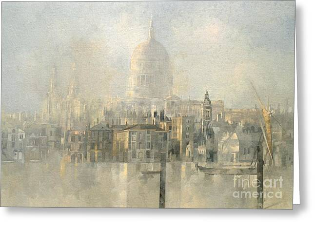 St Paul's Greeting Card by Peter Miller