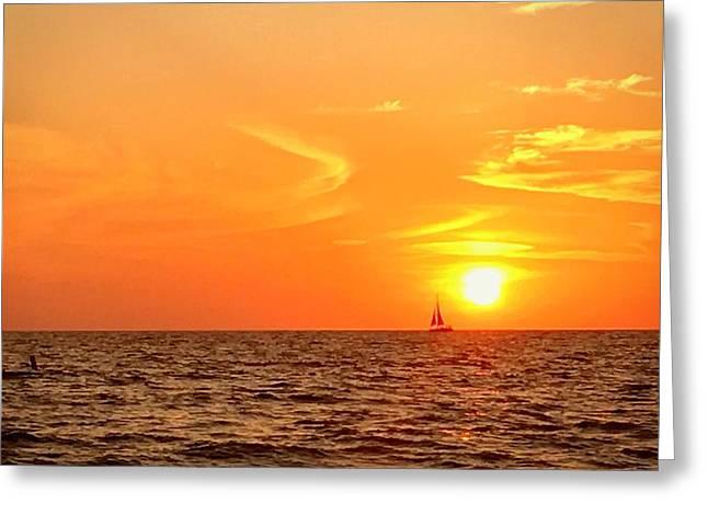 St. Pete Beach Sunset Greeting Card