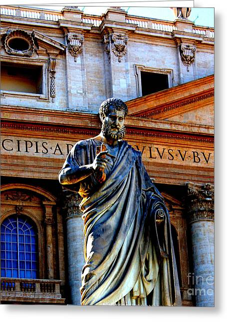 St Peter At The Vatican Greeting Card
