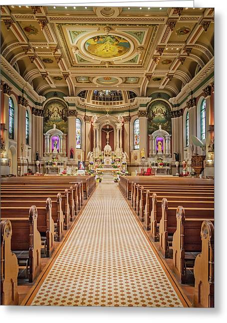 Greeting Card featuring the photograph St Peter The Apostle Church Pa by Susan Candelario