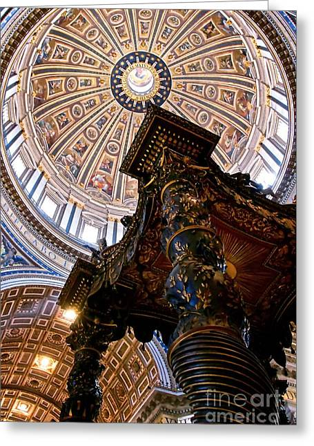 St. Peter's Baldachin And Niches Greeting Card