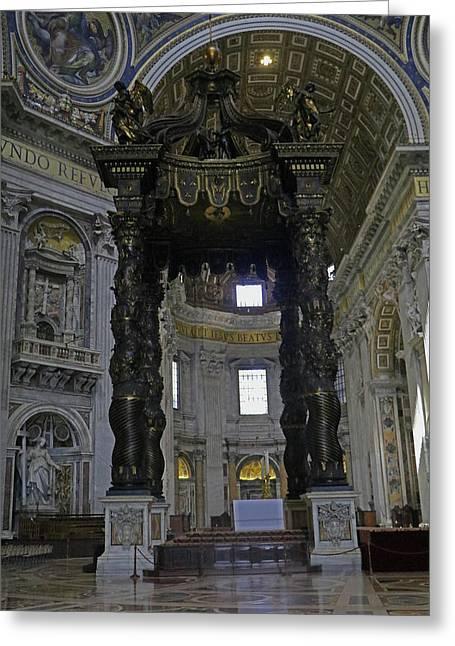 St. Peter's Baldachin Greeting Card