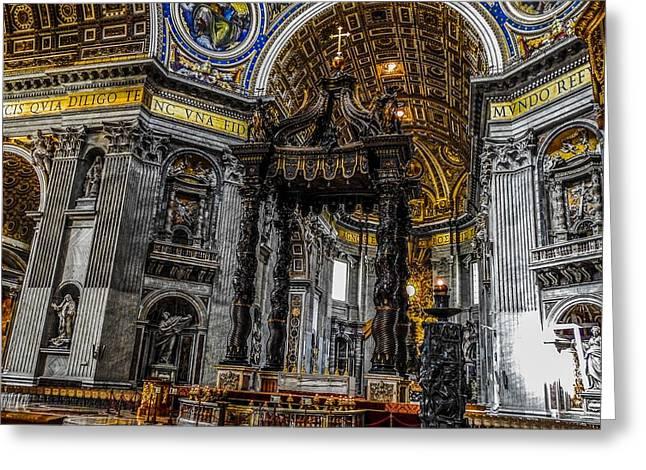 St. Peter's Balduchin In St Peter's Basilica Greeting Card