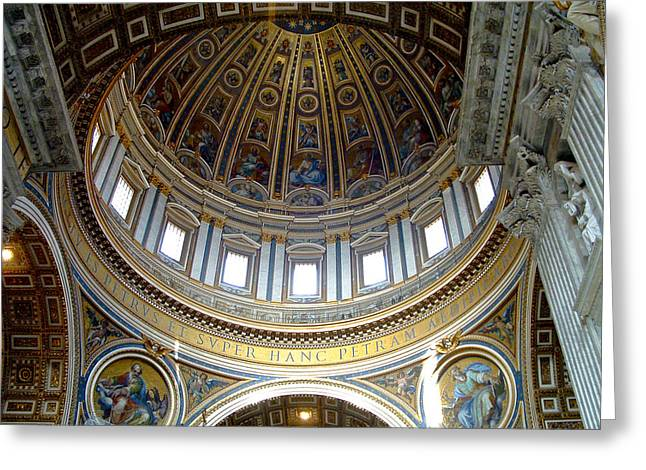 St. Peters Basilica Dome Greeting Card
