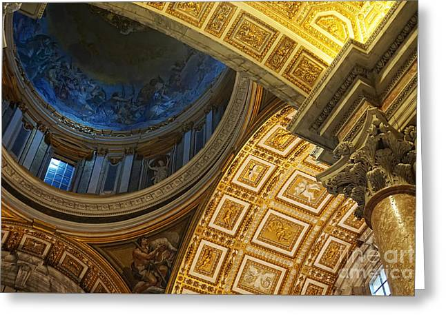 St Peter's Basilica Greeting Card by HD Connelly