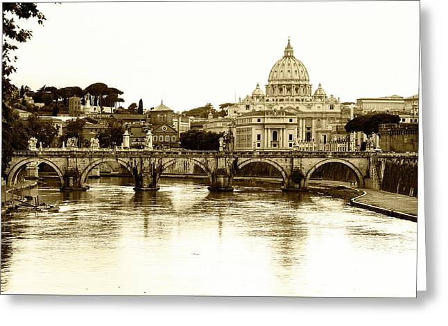 Greeting Card featuring the photograph St. Peters Basilica by Mircea Costina Photography