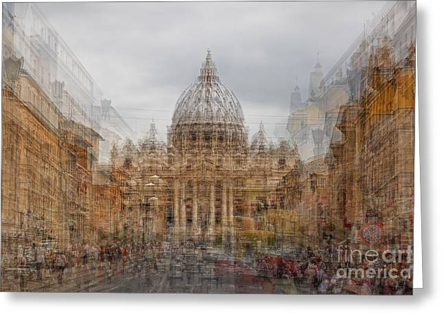 St. Peter's Basilica  Greeting Card by Richard Thomas