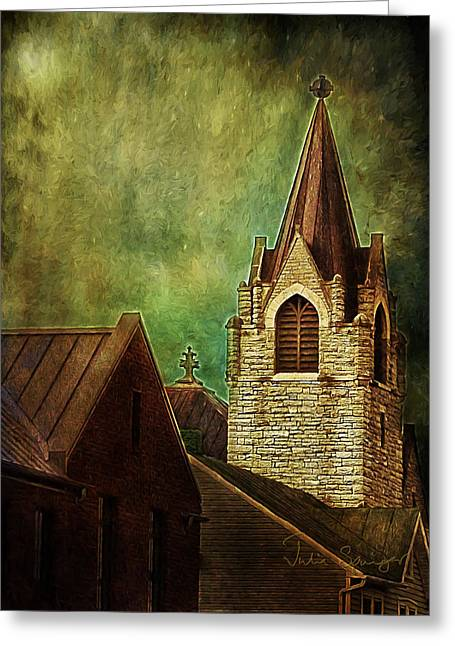 St Peter's By Night Greeting Card