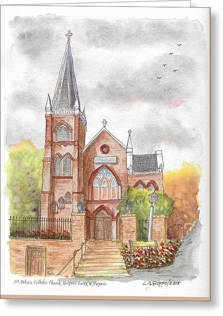 St. Peter's Catholic Church, Harpers Ferry, West Virginia Greeting Card