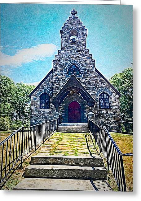 St Peters Church By The Sea Greeting Card by Anne Sands