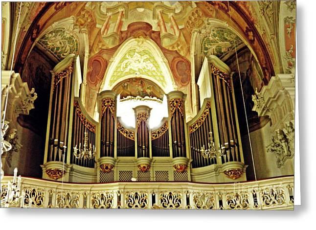 St Peter's Church Organ Mainz Greeting Card