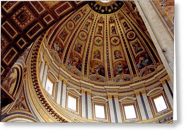 St Peters Looking Up Greeting Card by Martin Sugg